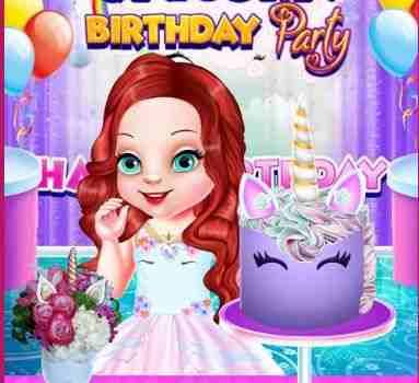 Baby Ariel Unicorn Birthday Party Game