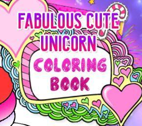 Fabulous Cute Unicorn Coloring Book Game