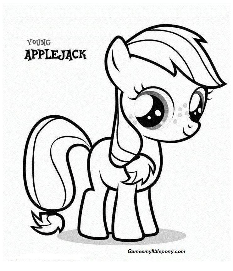 Coloring book My Little Pony: Applejack Coloring Page