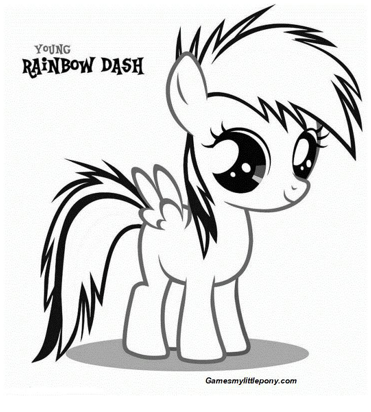 Coloring book My Little Pony: Rainbow Dash Coloring Page