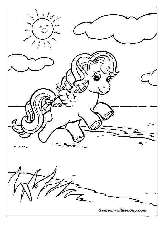 Summer Vacation For Pony  from My Little Pony  Coloring Page