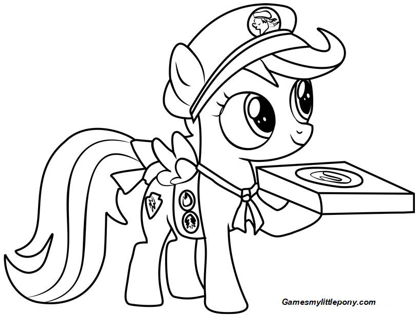 MLP Coloring Filly Guides Coloring Page
