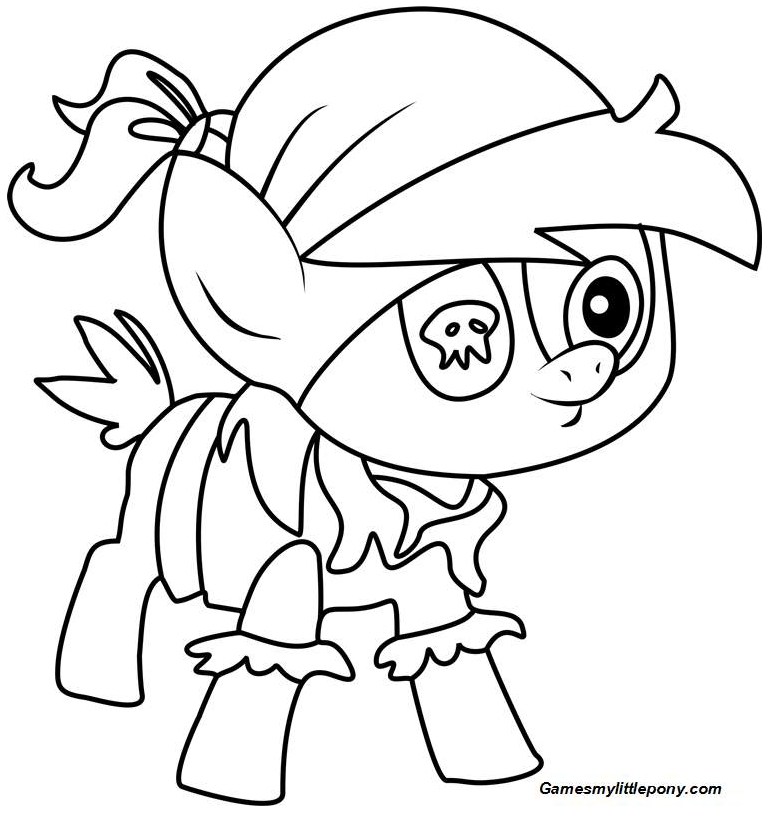 My Little Pony Coloring Pipsqueak Coloring Page