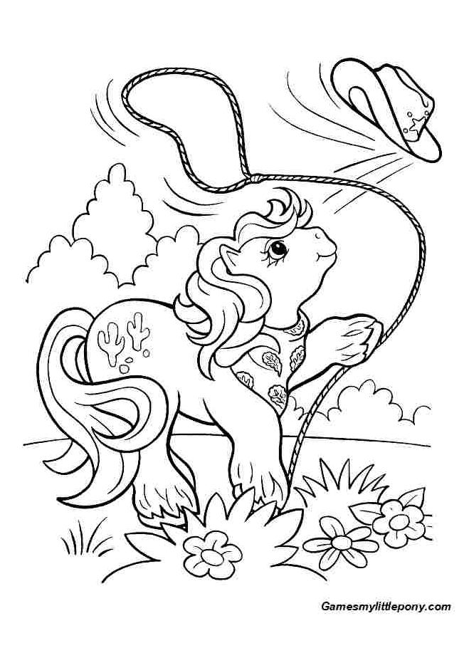 Cowboy Pony  from My Little Pony  Coloring Page