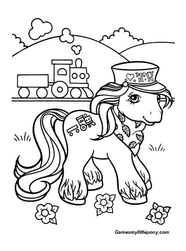 Pony At Train Station from My Little Pony Coloring Page