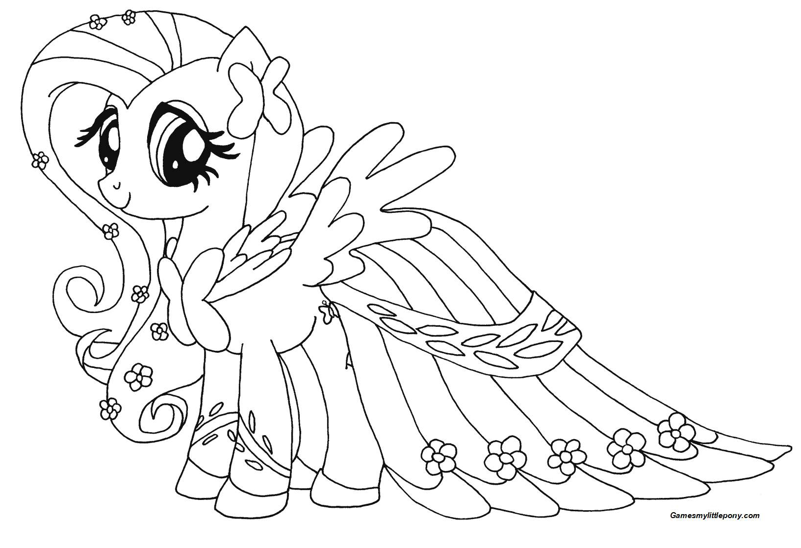 Fluttershy from My Little Pony Coloring Page