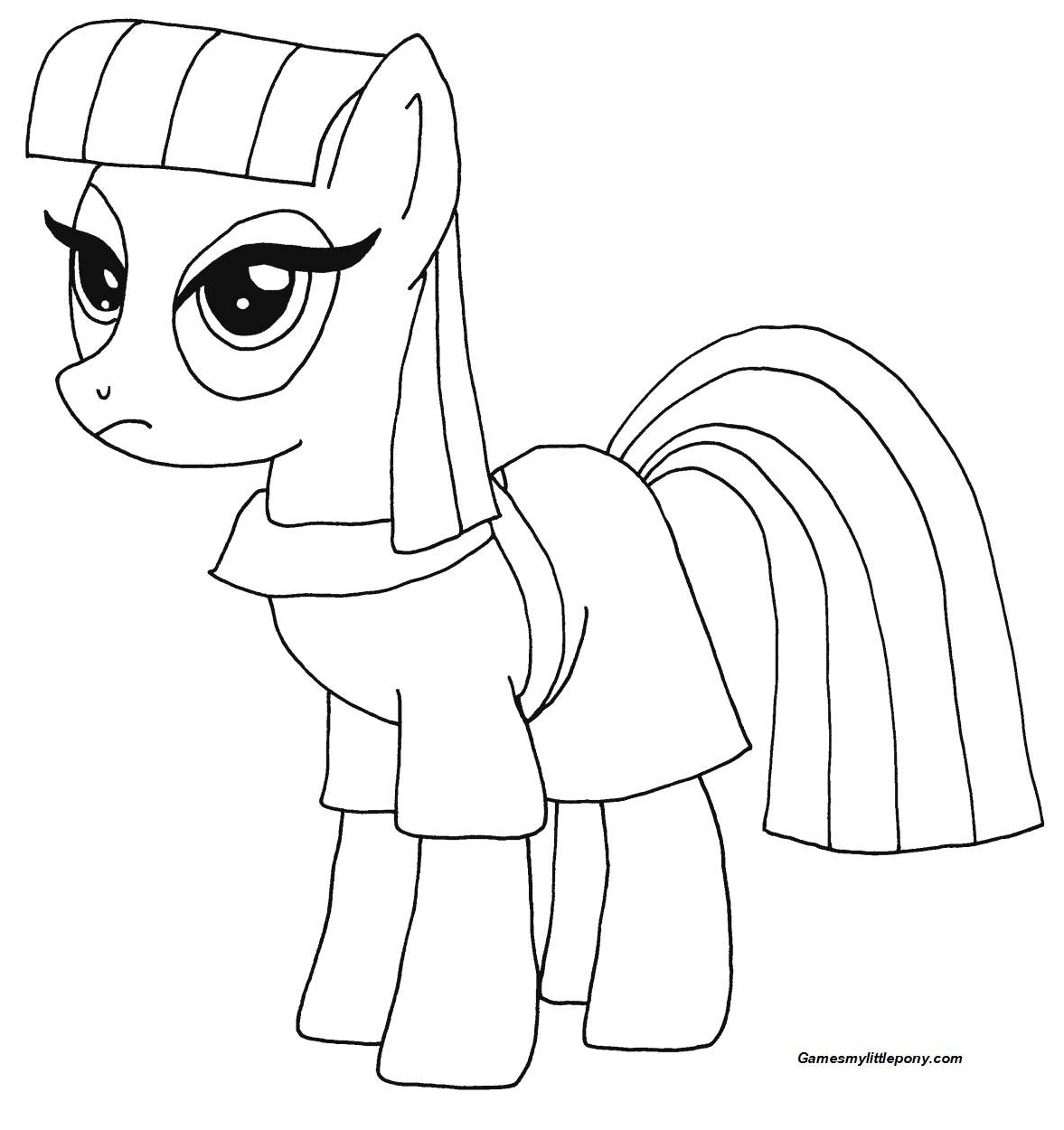 Maud Pie from My Little Pony  Coloring Page