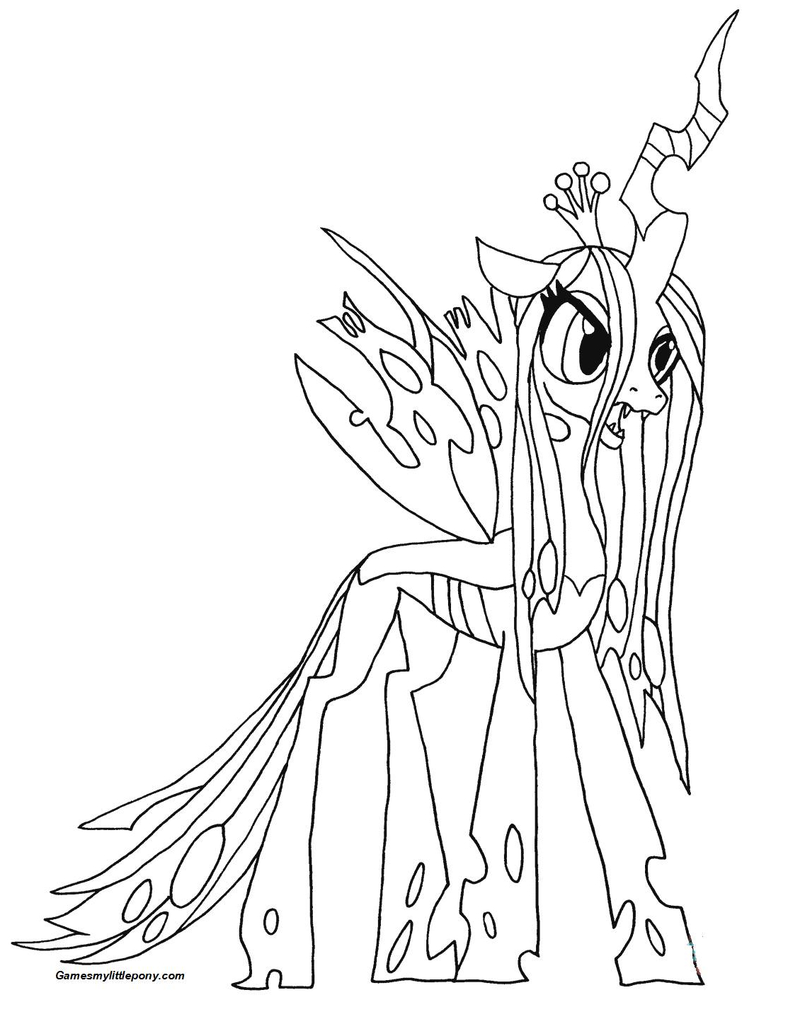 My Little Pony Queen Chrysalis from My Little Pony Coloring Page