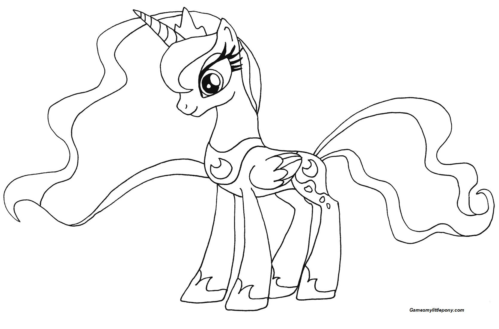 My Little Pony Princess Luna from My Little Pony Coloring Page