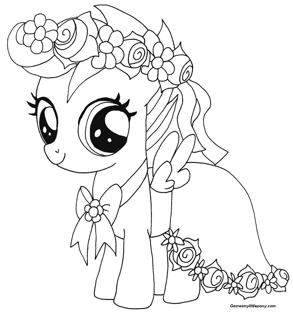 My Little Pony Scootaloo from My Little Pony  Coloring Page