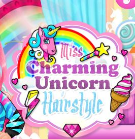 Miss Charming Unicorn Hairstyle Game
