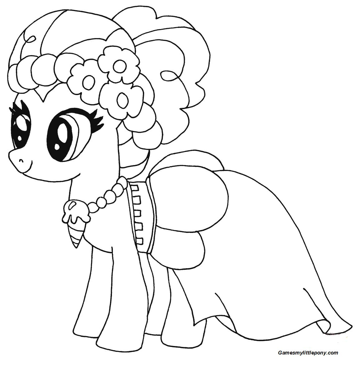 Pinkie Pie from My Little Pony Coloring Page