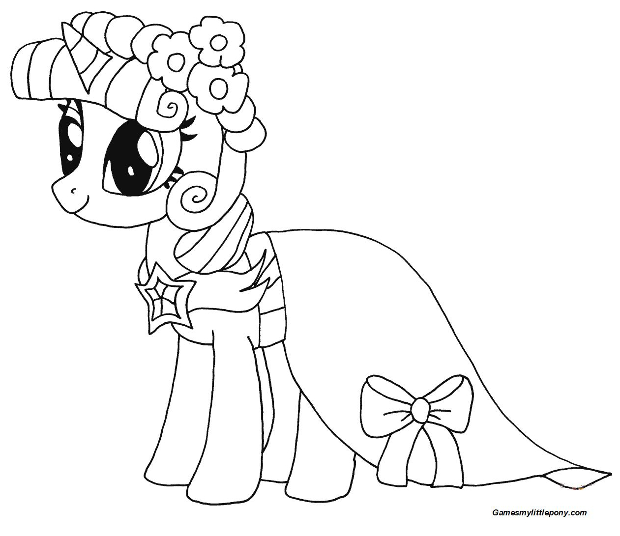 Princess Twilight Sparkle from My Little Pony Coloring Page