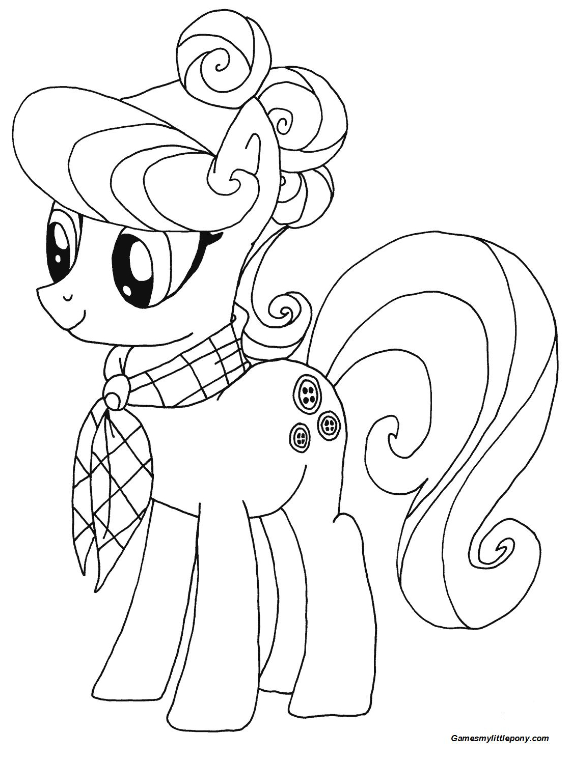 Suri Polomare from My Little Pony Coloring Page