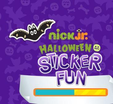 Nick Jr Halloween Sticker Fun Game