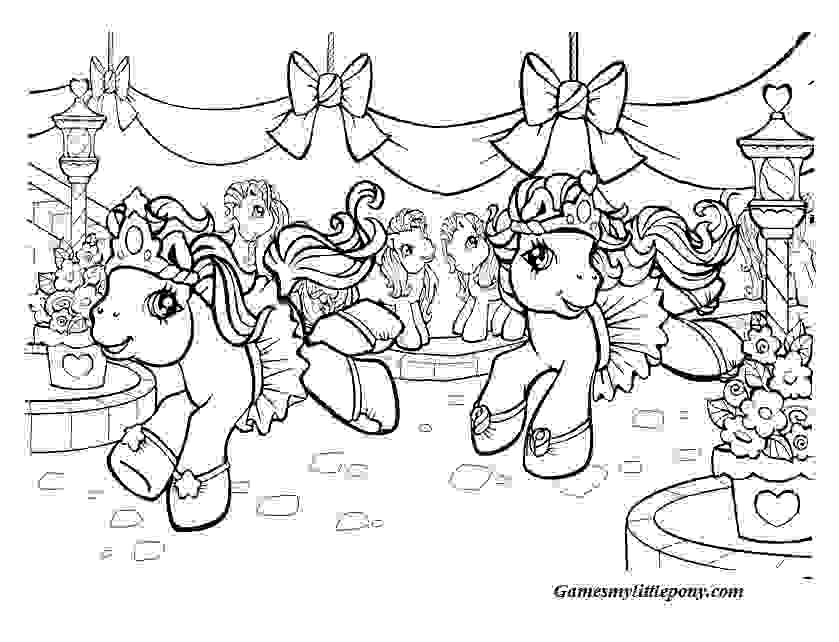 Happy My Little Pony Coloring Pages Christmas Coloring Page