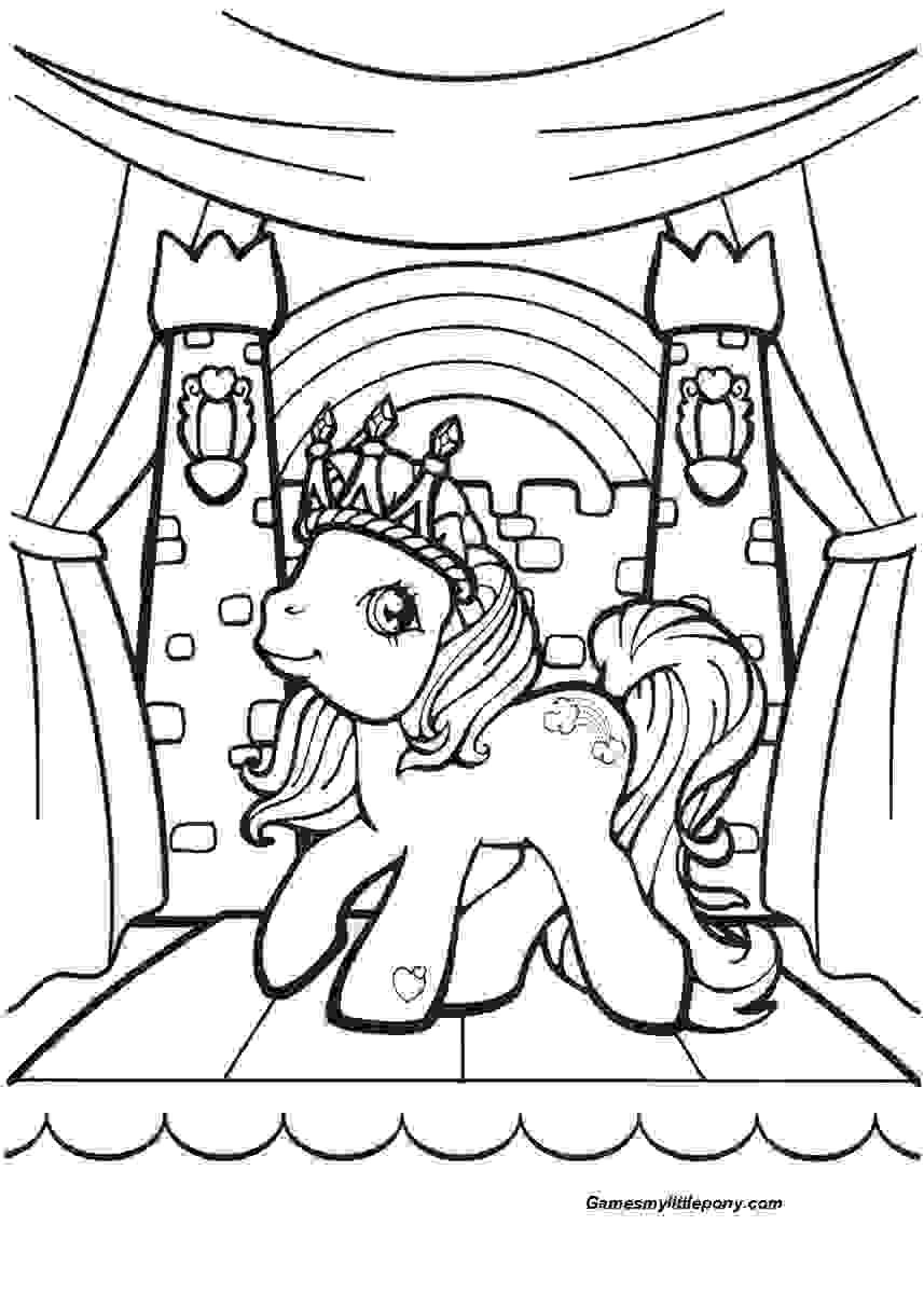Pony Place Coloring Page