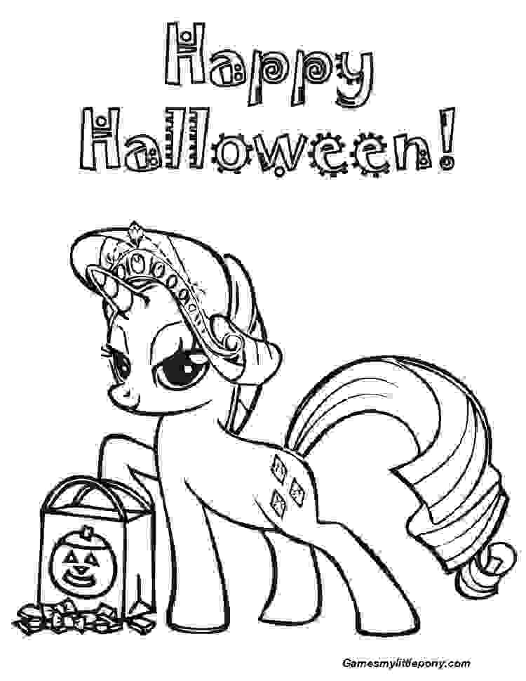 Ponys Hallowen Day Coloring Page