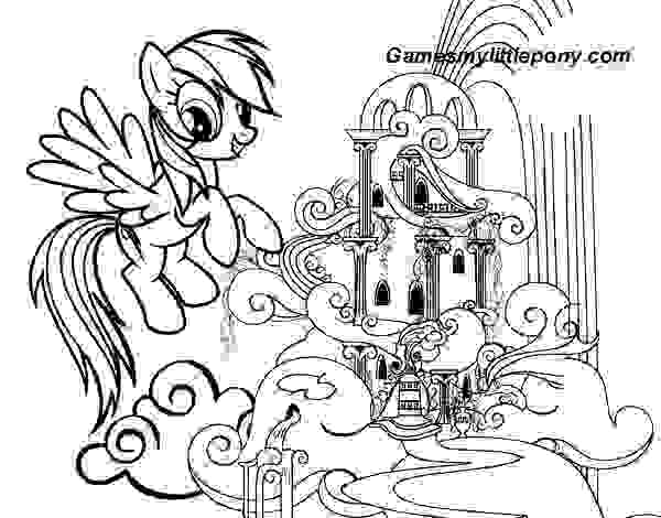 MLP Rainbow Dashs Palace  Coloring Page