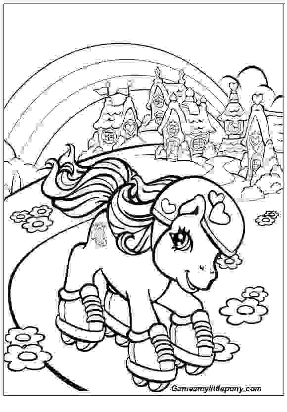 Rainbow Pony Coloring Page