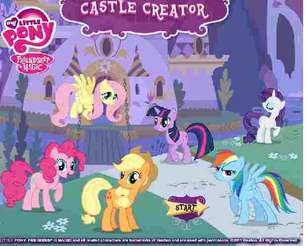 Rainbow Horse's Castle Game