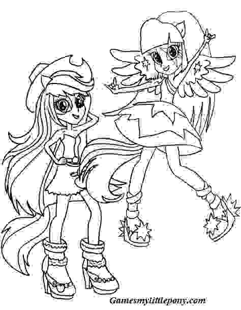 Funny Equestria Girls  Coloring Page