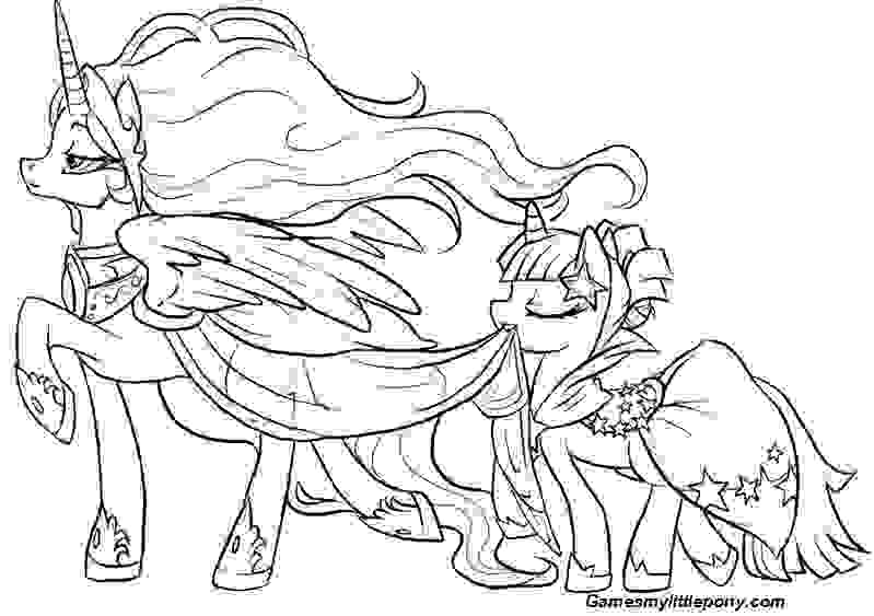 MLP Mother and Baby Coloring Page