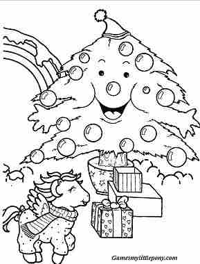 MPL For Christmas  Coloring Page