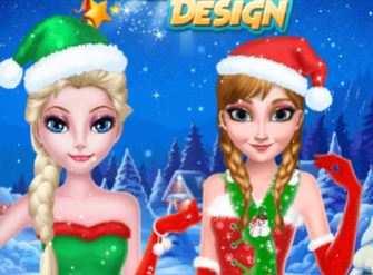 Anna Elsa Christmas Hairstyle Game