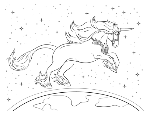 Beautiful Unicorn Coloring Page Coloring Page
