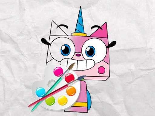Unicorn Kitty Coloring Book New Game