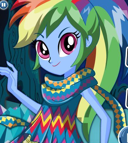 Legend of Everfree Rainbow Dash Up Game