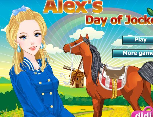 Alex Jockey Dress Up Game