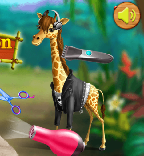Animal Fashion Hair Salon Game