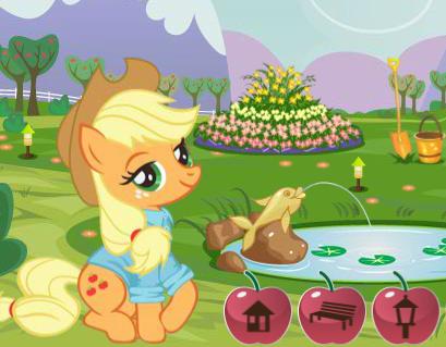 Applejack's Garden Decoration Game