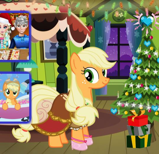 Applejack Xmas Outfit Game