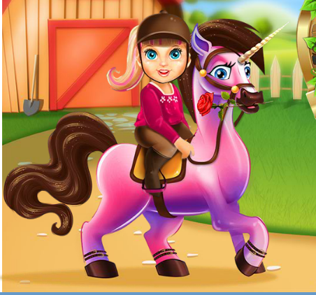 Baby Barbie Pony Caring Game