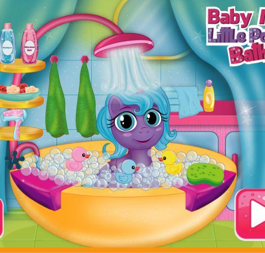 Baby My Little Pony Bath Game