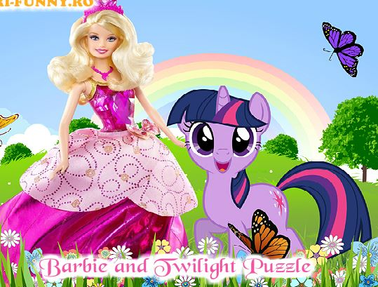 Barbie And Twilight Puzzle Game