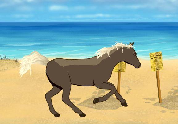 Clemmy Beach Horse Game