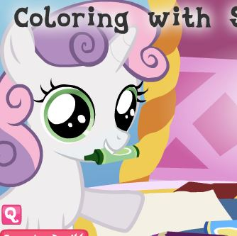 Coloring With Sweetie Belle Game