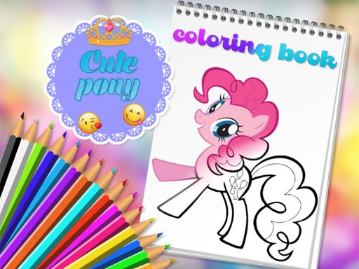 Cute Pony Coloring Book Game