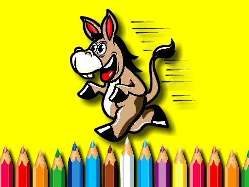 Donkey Coloring Book Game