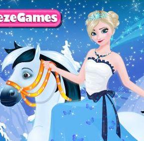 Elsa Goes Horseback Riding Game