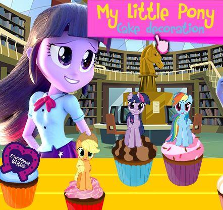 Equestria Girls MLP Cake Decoration Game