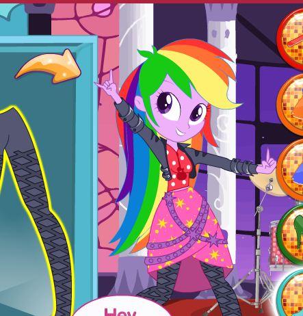 Equestria Girls Rainbow Rocks Meets Disney Game