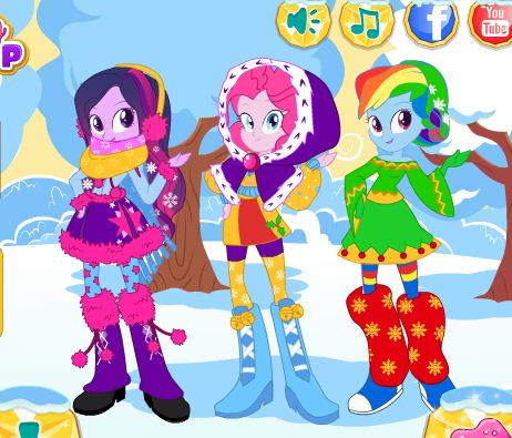 Equestria Girls Winter Fashion Game