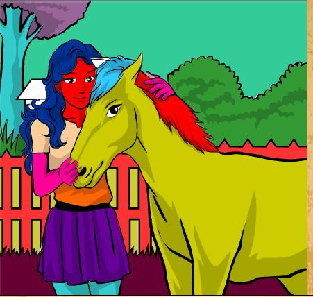 Girl And Horse Game