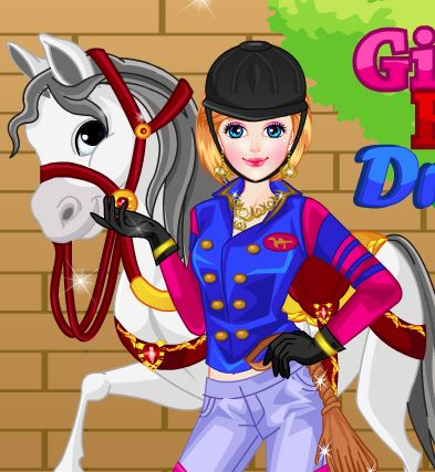 Girl With Horse Dress Up Game