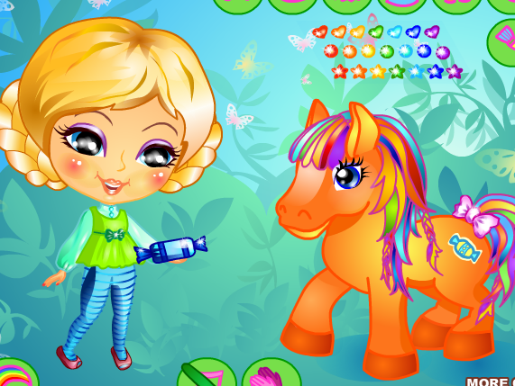 Her Little Pony Dress Up Game